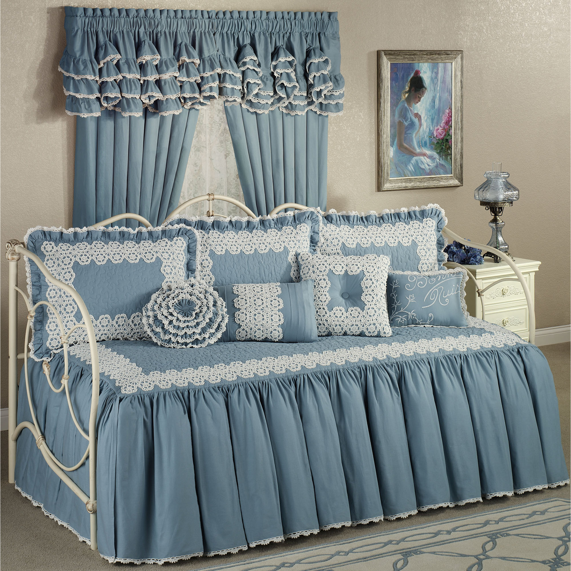 daybed bedding sets blue photo - 2