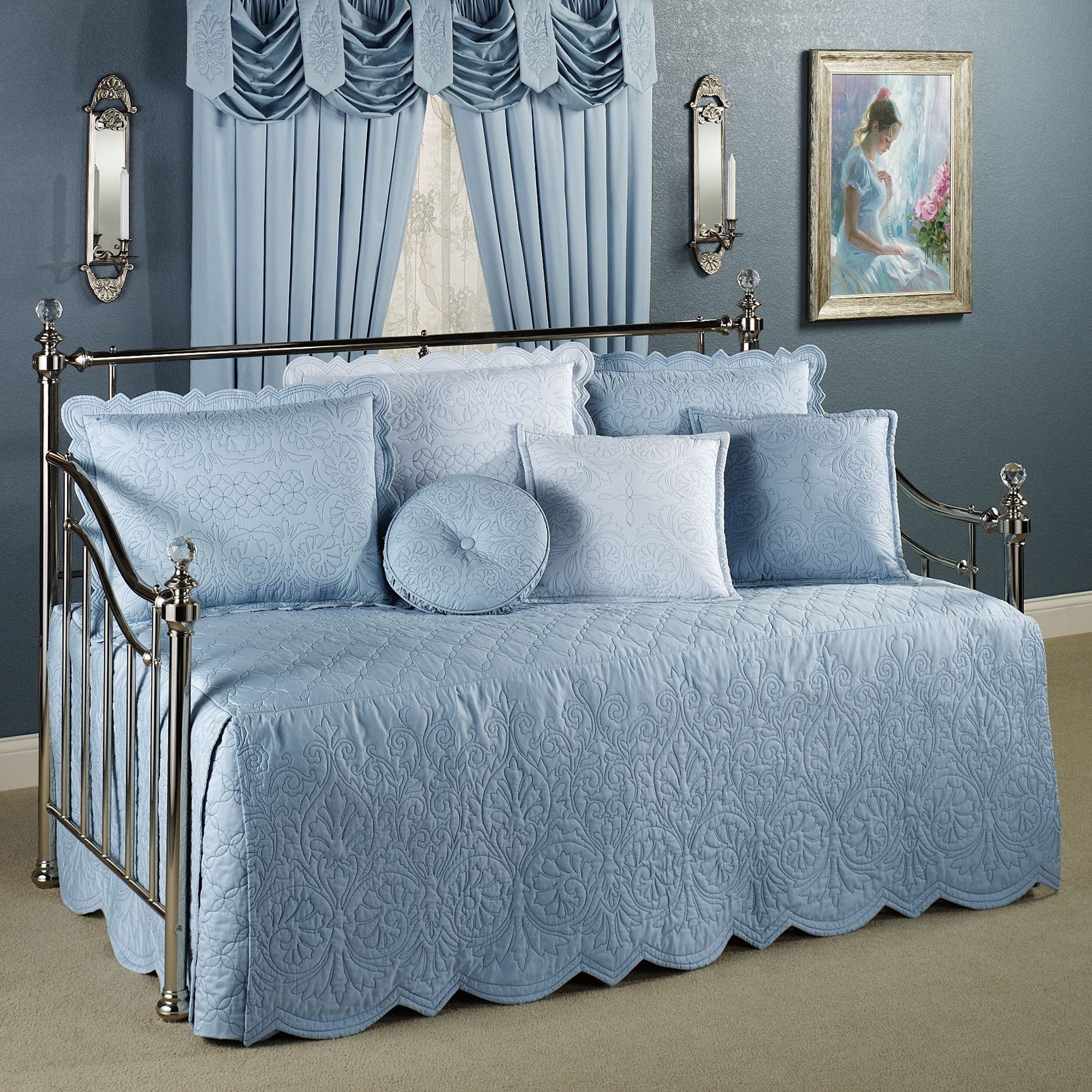 daybed bedding sets blue photo - 6