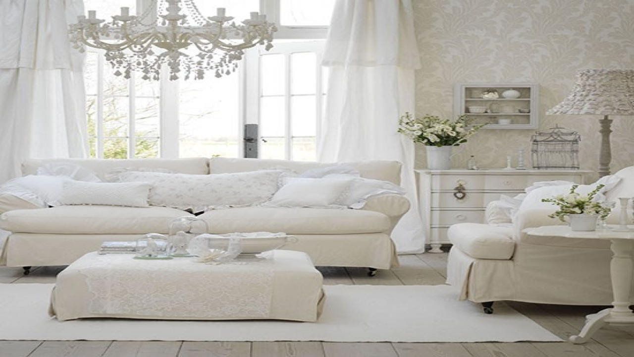 decorating living room with white furniture photo - 1