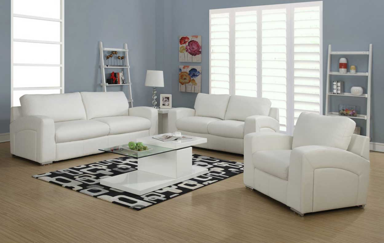 decorating living room with white furniture photo - 10