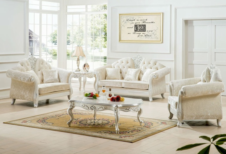 decorating living room with white furniture photo - 3