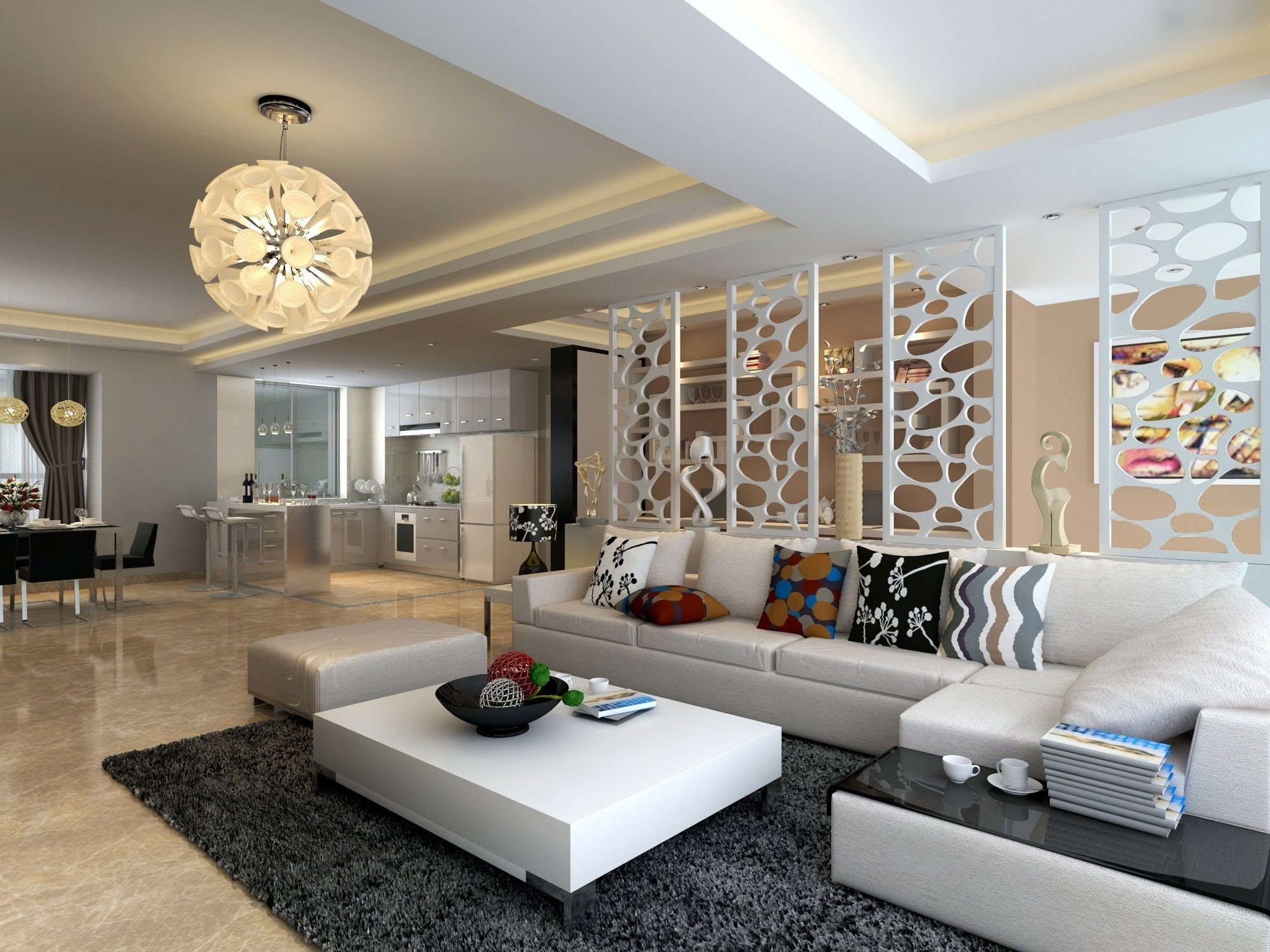 decorating living room with white furniture photo - 6