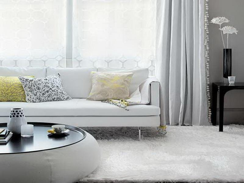 decorating living room with white furniture photo - 7