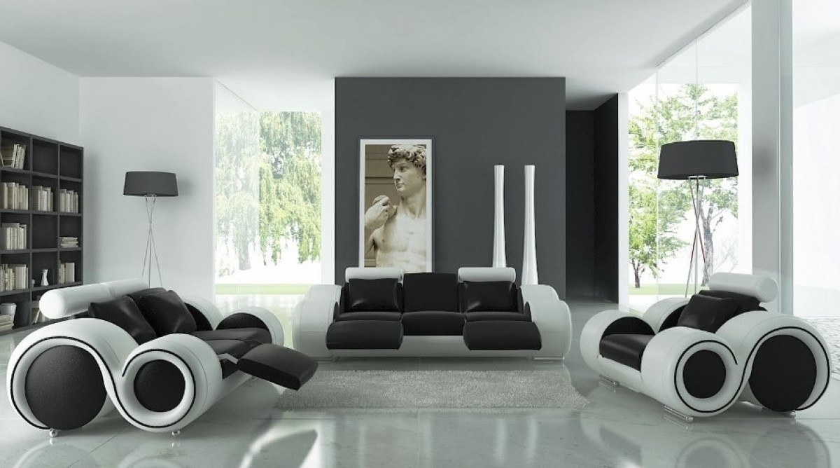 decorating living room with white furniture photo - 8