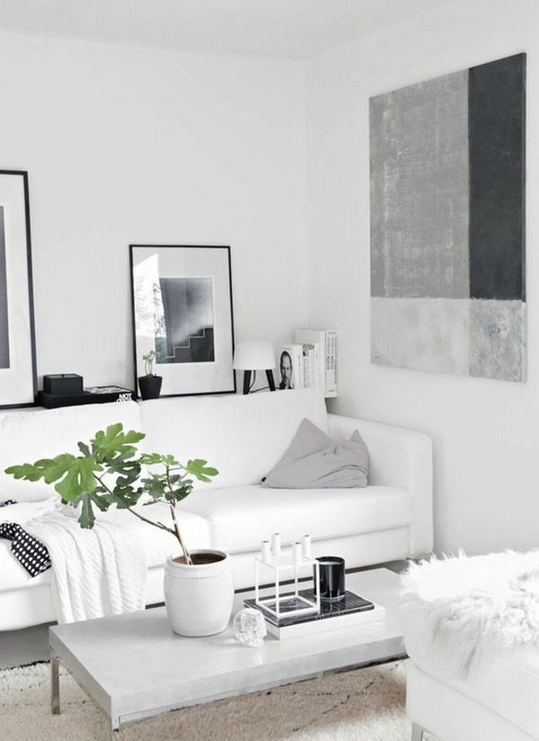 decorating living room with white furniture photo - 9