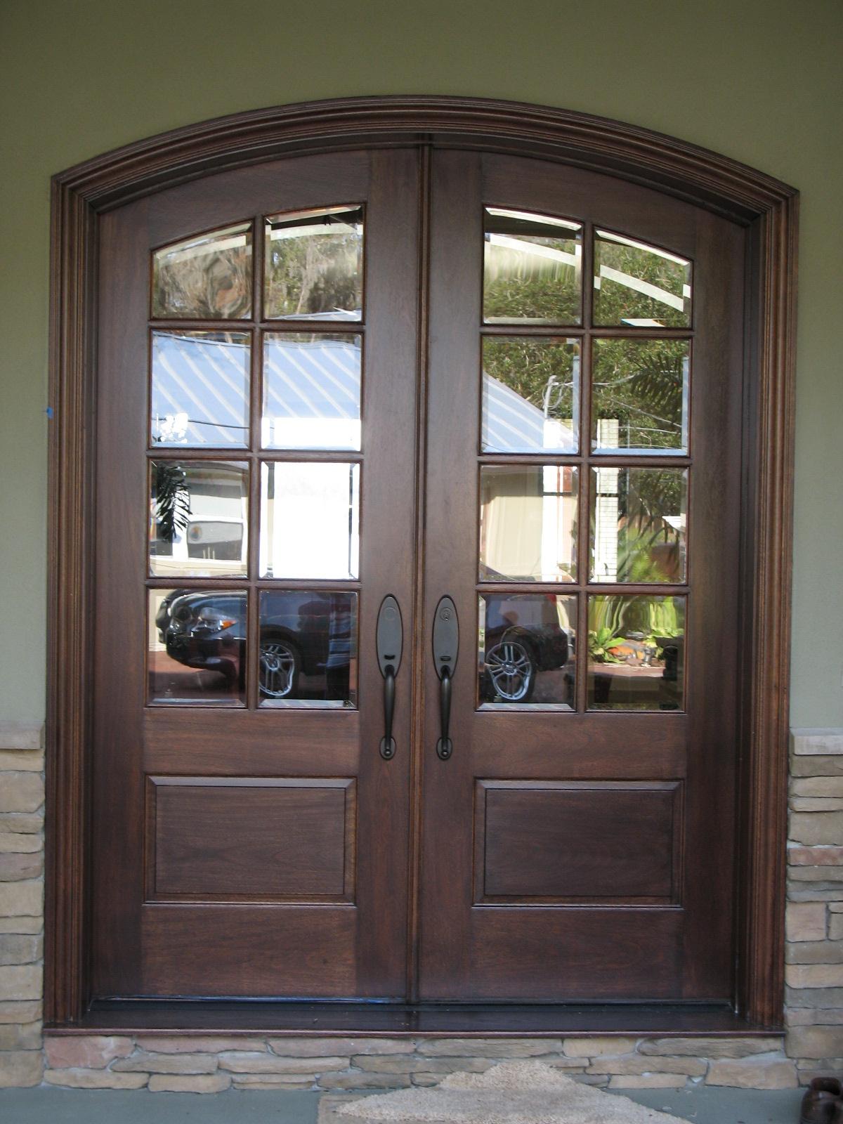 decorative french doors interior photo - 8