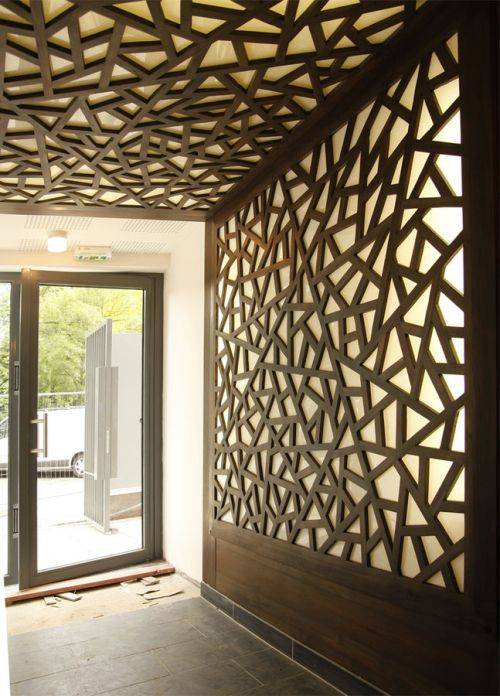 decorative wood wall panels designs photo - 3