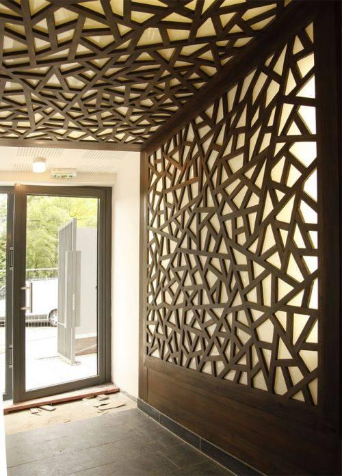 decorative wood wall panels designs photo - 3