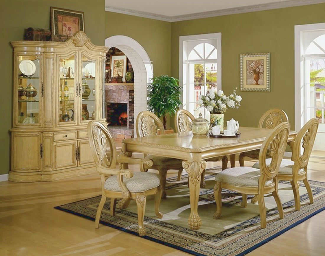dining room with white furniture photo - 1