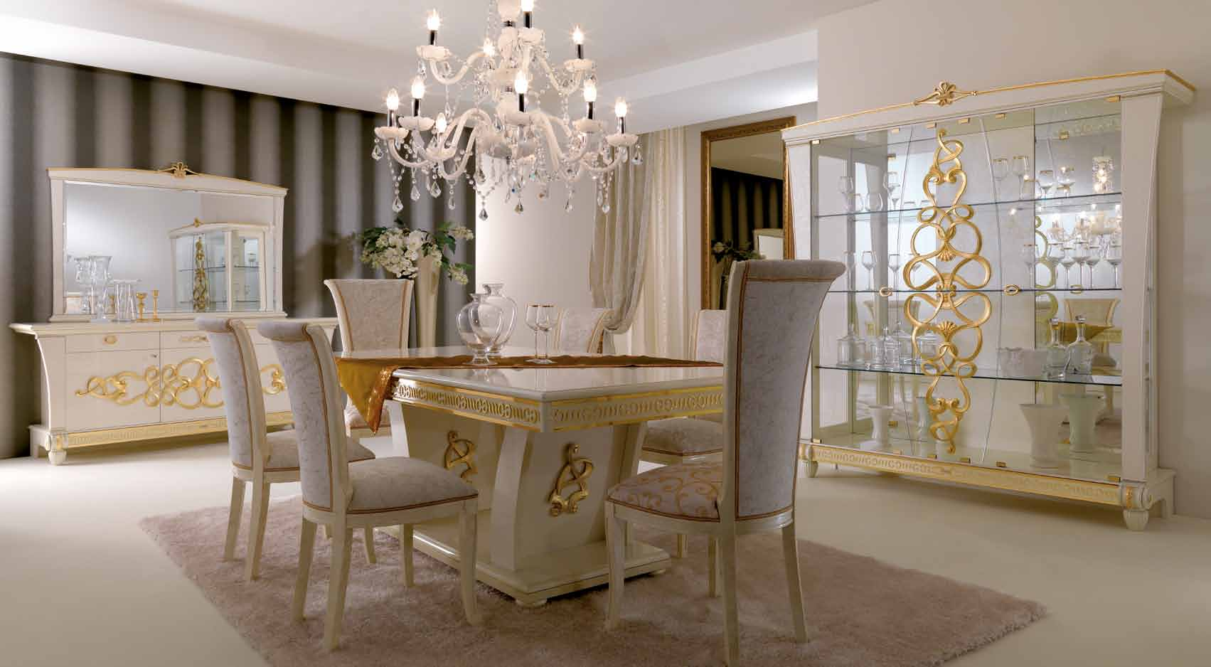 dining room with white furniture photo - 10
