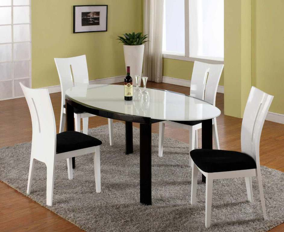 dining room with white furniture photo - 4