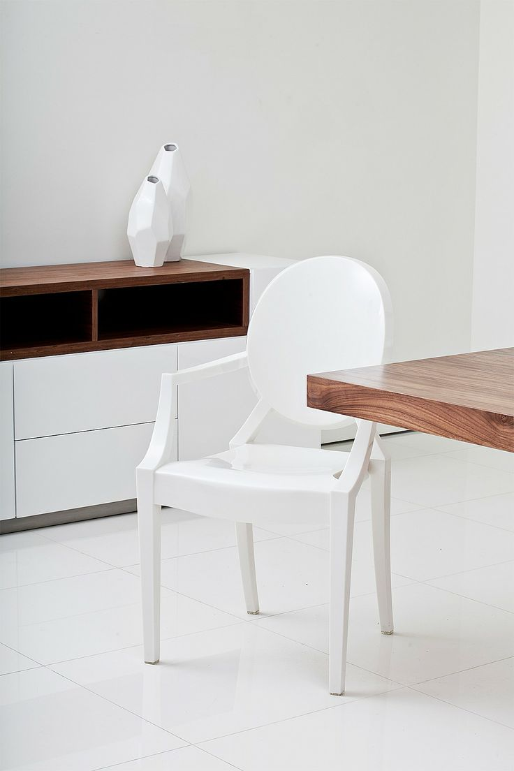 dining room with white furniture photo - 6