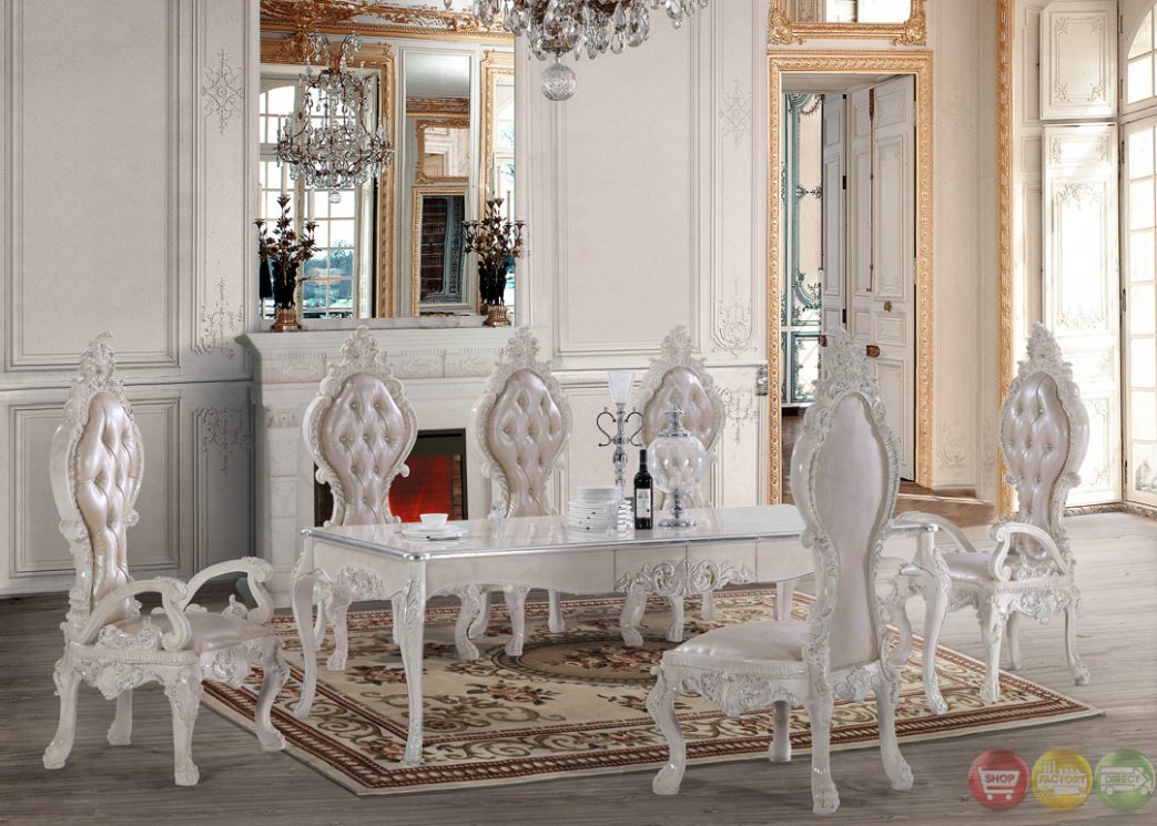 dining room with white furniture photo - 7