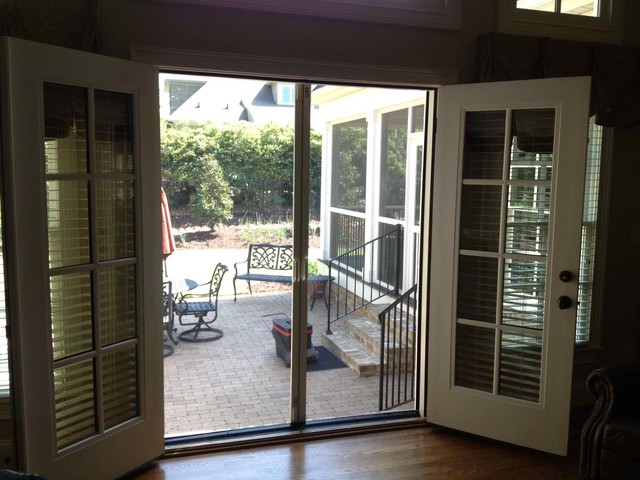 Double French Doors With Screens Hawk Haven
