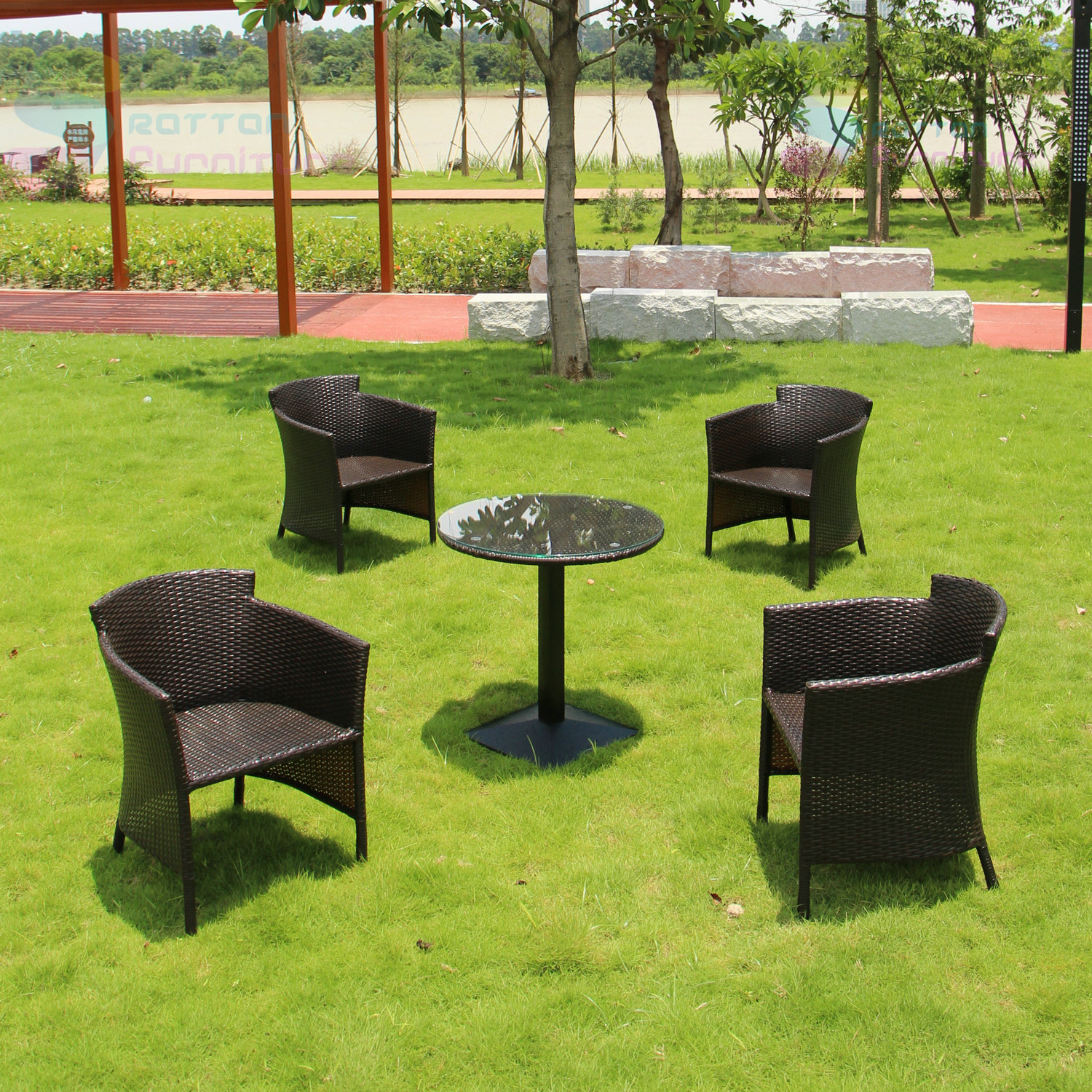 elegant outdoor wicker furniture photo - 2