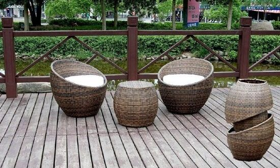 elegant outdoor wicker furniture photo - 5