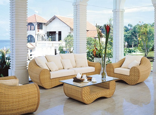 elegant outdoor wicker furniture photo - 6