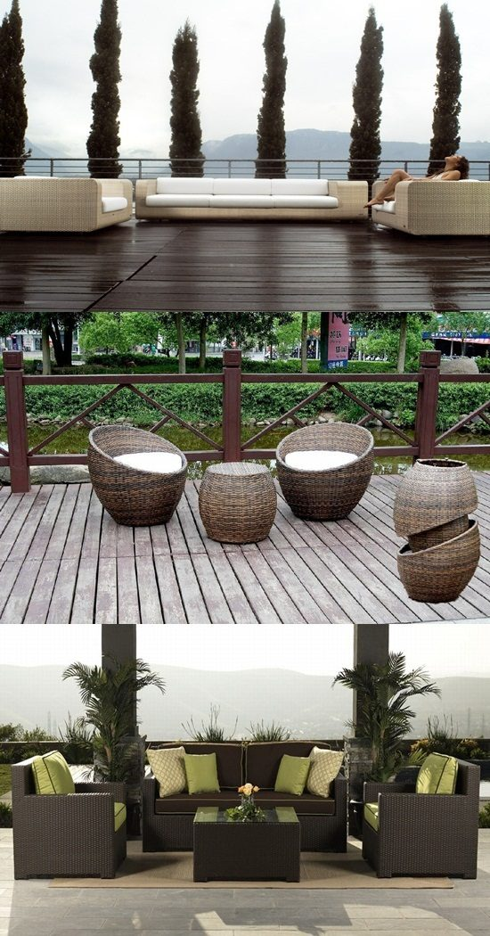 elegant outdoor wicker furniture photo - 8
