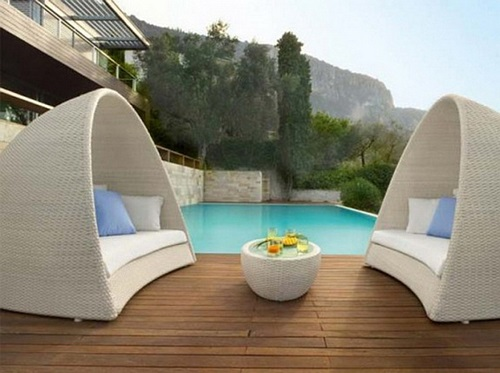 elegant outdoor wicker furniture photo - 9