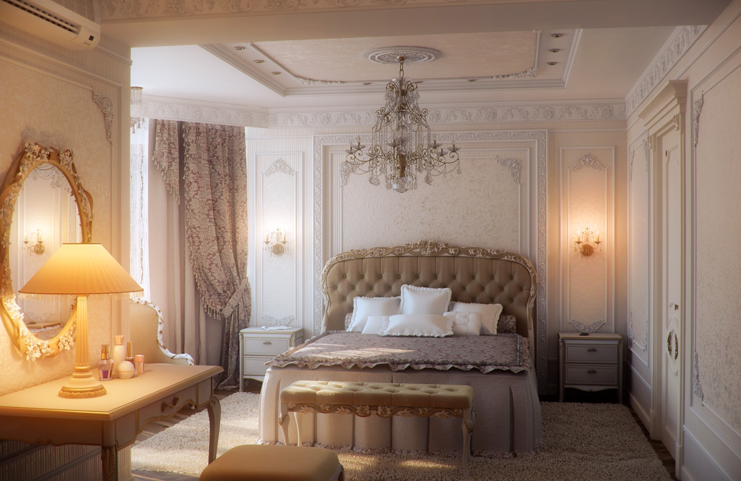 elegant traditional bedroom furniture photo - 5