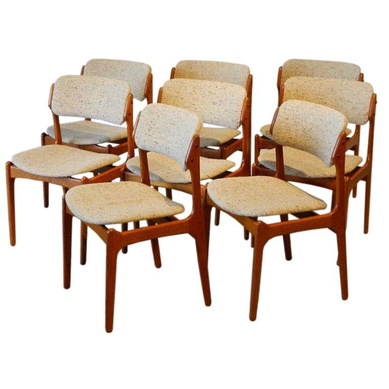 erik buck teak dining chairs photo - 2