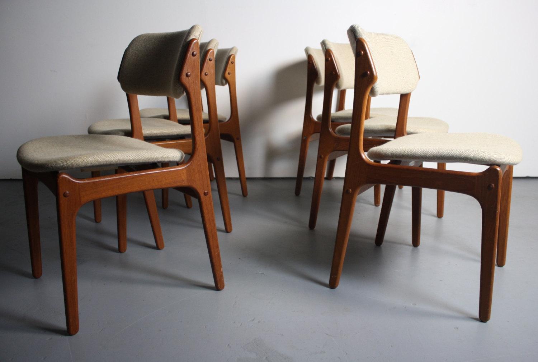 erik buck teak dining chairs photo - 3