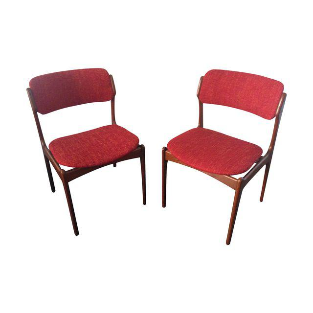 erik buck teak dining chairs photo - 5