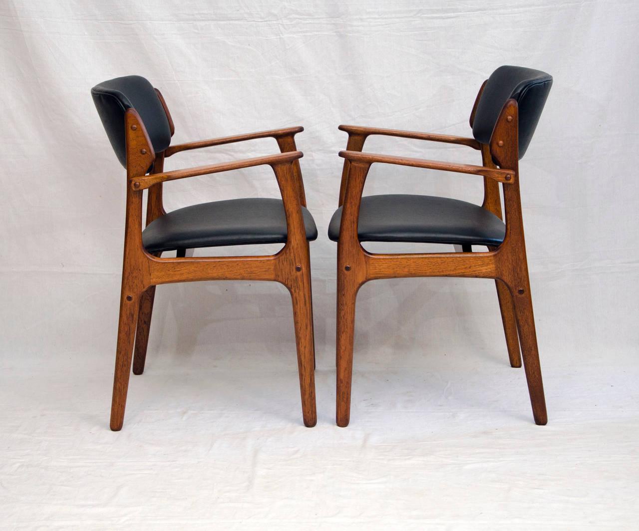 erik buck teak dining chairs photo - 6