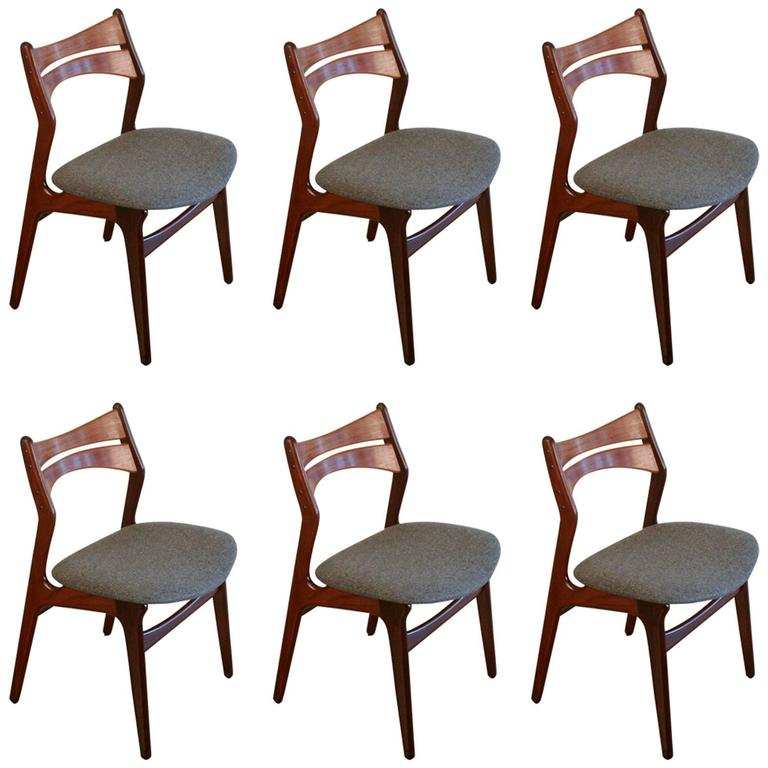 erik buck teak dining chairs photo - 7