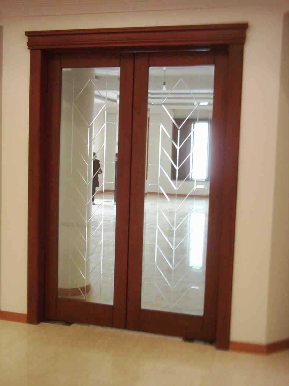 etched interior french doors photo - 1