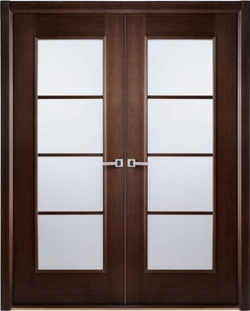 etched interior french doors photo - 2