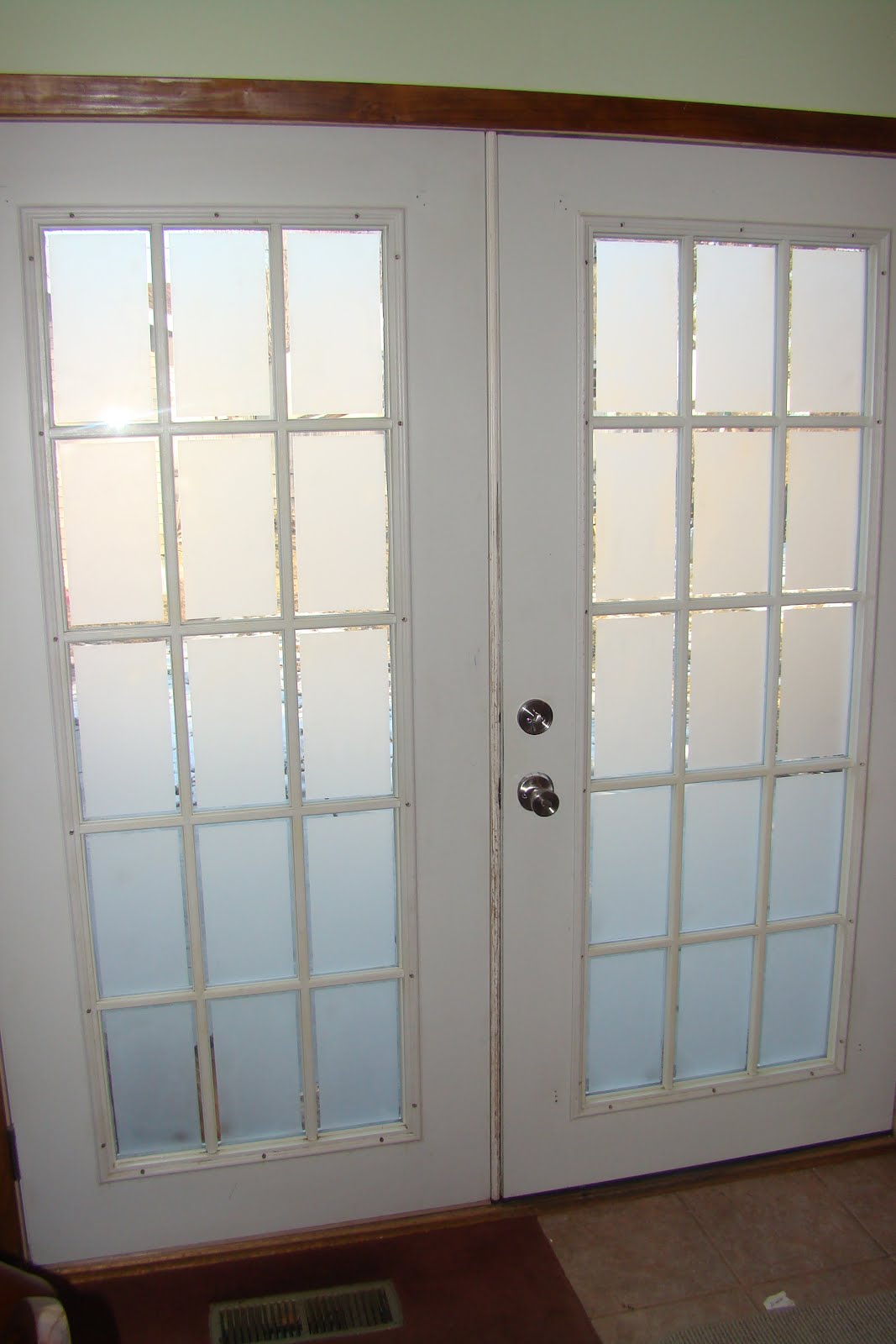 etched interior french doors photo - 3