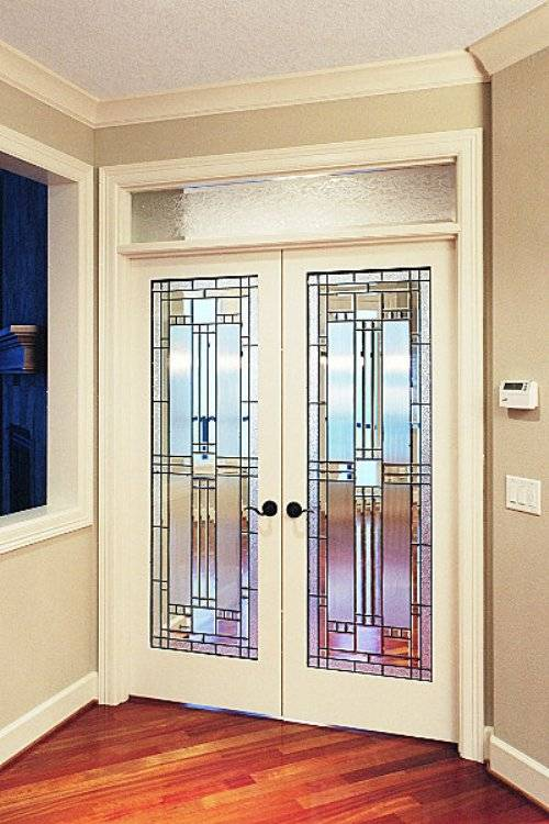 etched interior french doors photo - 4