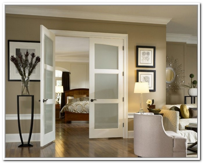 etched interior french doors photo - 5