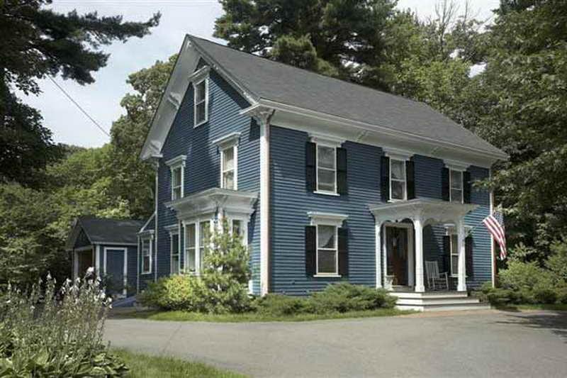 exterior paint colors blue photo - 1