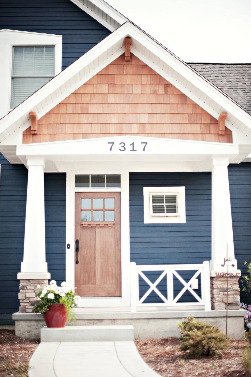 Exterior paint colors blue | Hawk Haven