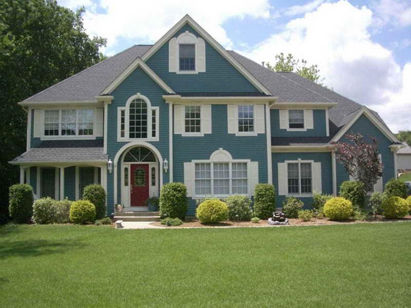 exterior paint colors blue photo - 3