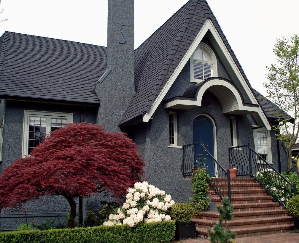 exterior paint colors blue grey photo - 1