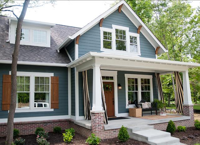 exterior paint colors blue grey photo - 4