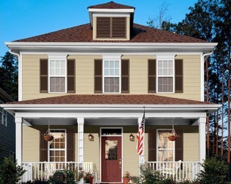 exterior paint colors brown roof photo - 9