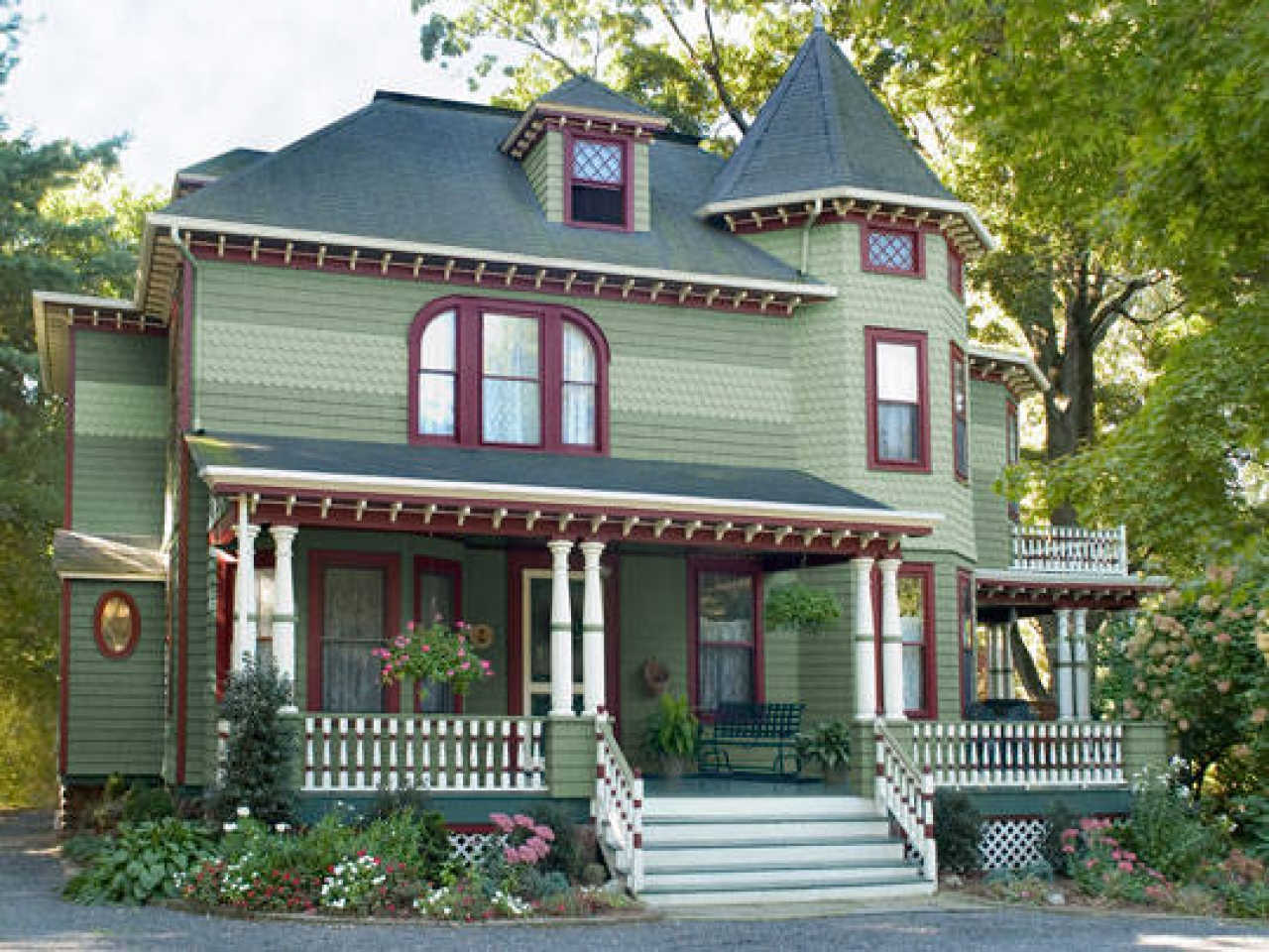 exterior paint colors victorian photo - 10