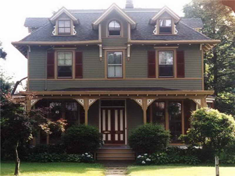 exterior paint colors victorian photo - 2