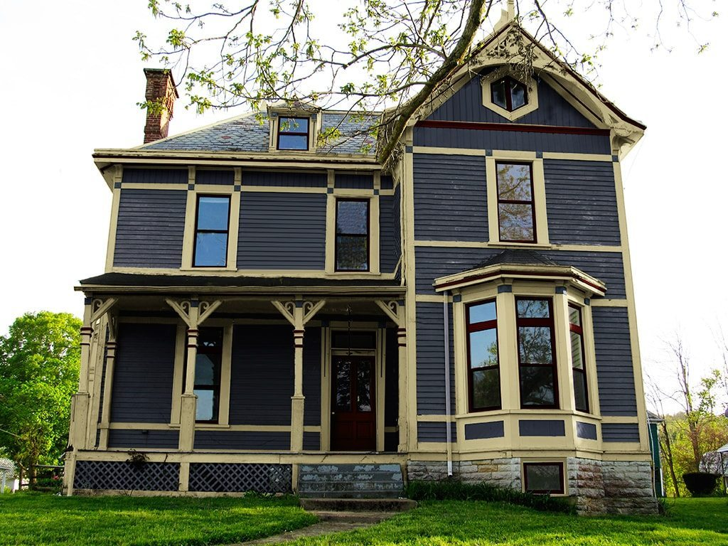 exterior paint colors victorian photo - 3