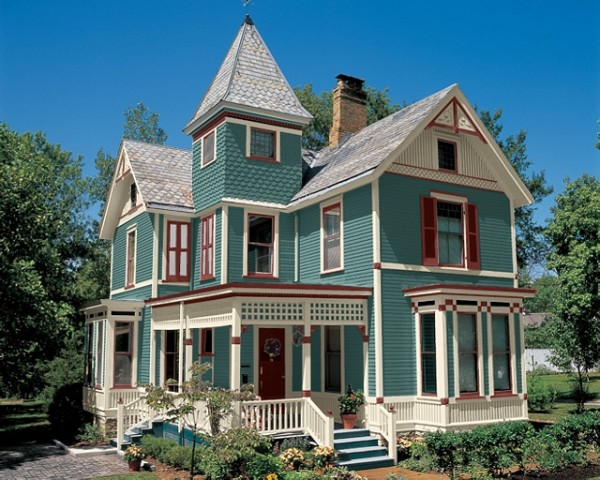 exterior paint colors victorian photo - 5