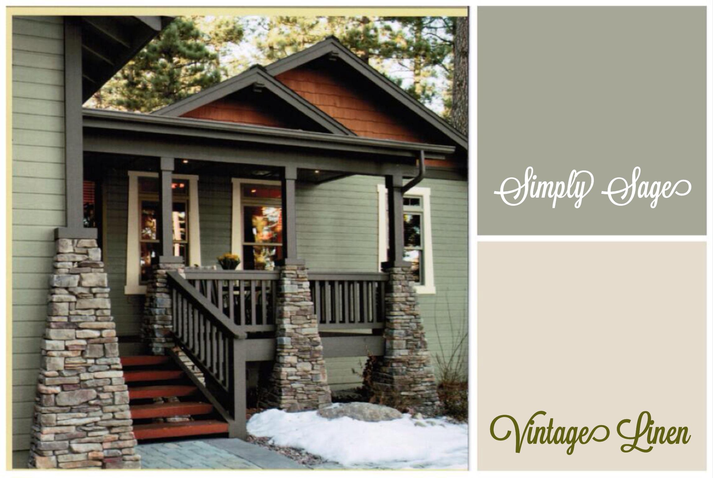 exterior paint colors vintage photo - 4