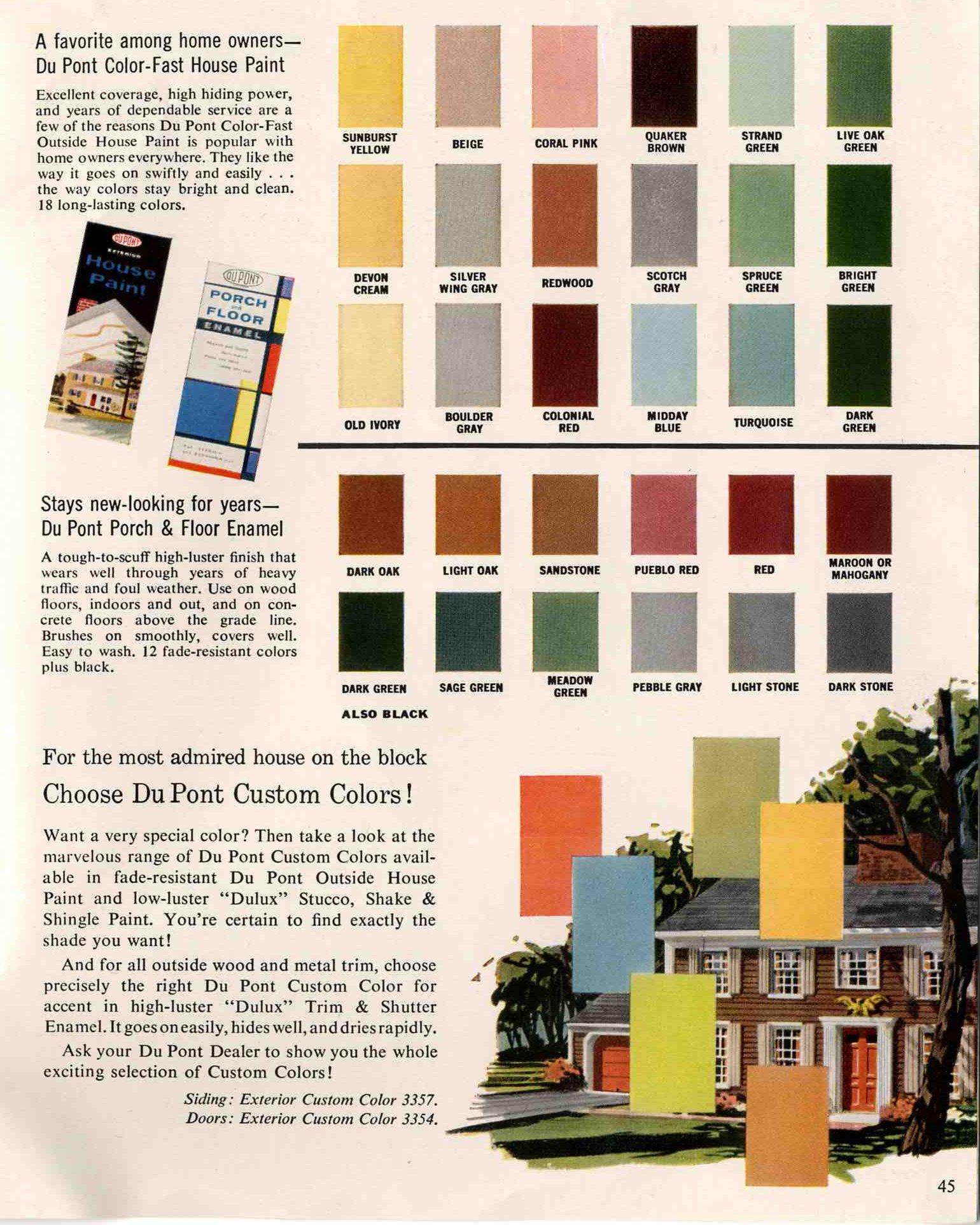 exterior paint colors vintage photo - 9