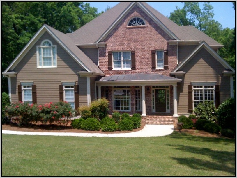 exterior paint colors with red brick photo - 2