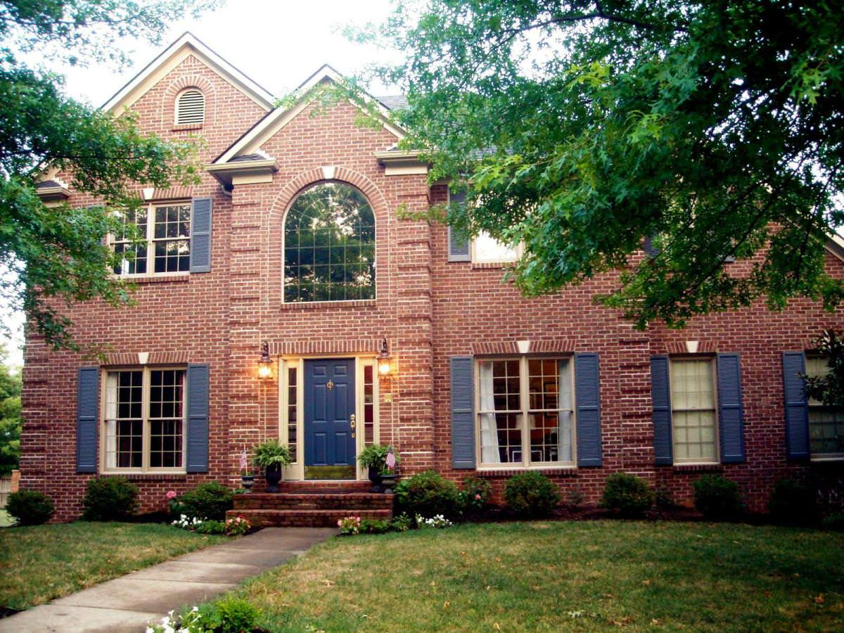 exterior paint colors with red brick photo - 6