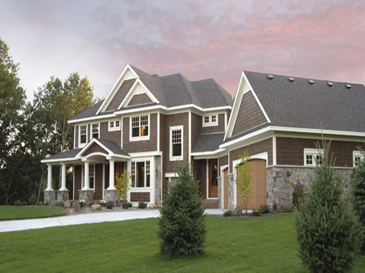 exterior paint colors with white trim photo - 1