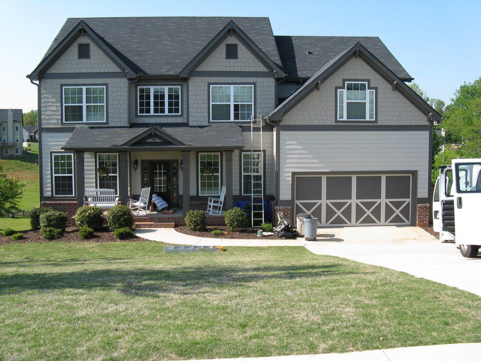 exterior paint colors with white trim photo - 4